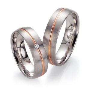 Silberner Ring mit goldenem Streifen